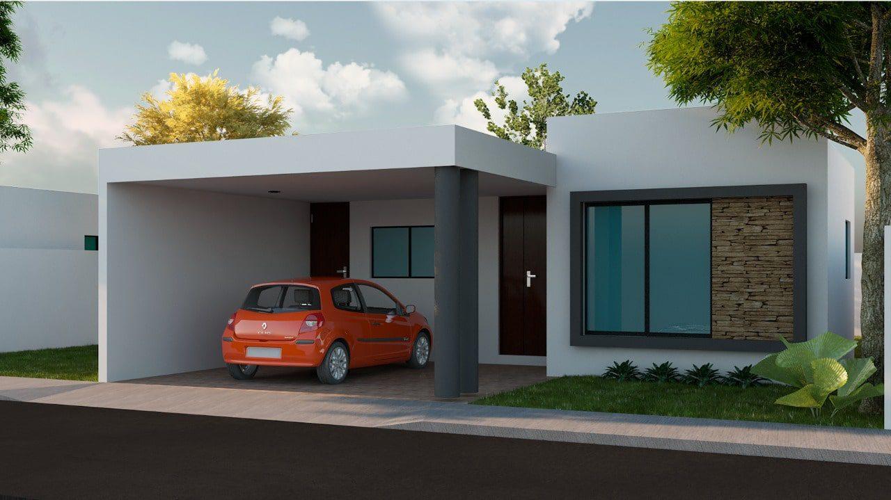 Casas en Venta en Privada Gran San Pedro Cholul_fachada GSPC lote 208